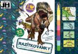 JIRI MODELS Razítkovánky Dinosauři kreativní sešit s aktivitami
