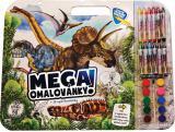 JIRI MODELS Mega omalovánkový set Dinosauři s voskovkami a barvičkami