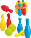 DOLU Set baby bowlingový kuželky dětské plastové 6ks + koule 2ks
