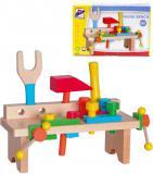 WOODY DŘEVO Ponk pracovní stůl zatloukací set s nářadím
