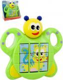 Baby puzzle brouček přesouvací skládačka 3v1 na baterie Světlo Zvuk pro miminko