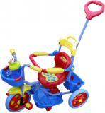 Tříkolka barevná pro menší děti s vodící tyčí