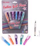 Pera gelová tetovací set 6 barev smývatelné vodou se šablonami