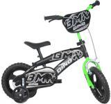 """ACRA Kolo DINO BIKES BMX 12"""" chlapecké černé balanční kolečka CSK5125"""