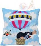 MORAVSKÁ ÚSTŘEDNA Polštář Krtek Létající balón (Krteček) 30x30cm PLYŠ