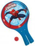MONDO Soft tenis plážový Spiderman set 2 pálky se soft míčkem plast