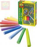 SES CREATIVE Křídy dětské barevné set 12ks v krabičce