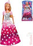 SIMBA Panenka Steffi Glitter Princess 29cm třpytivé šaty set s doplňky v krabici