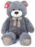 PLYŠ Medvěd Miki 110cm šedý s mašličkou s věnováním *PLYŠOVÉ HRAČKY*