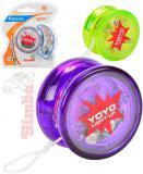 SIMBA JO-JO dětské plastové yoyo světelný efekt průhledné 3 barvy na kartě
