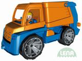 LENA Truxx Auto popelář 29cm vozítko na písek s panáčkem řidič plast