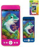 Telefon dětský mobilní 13cm na baterie různé barvy Světlo Zvuk plast