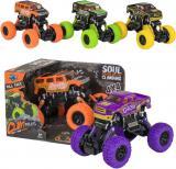 Auto kaskadérské Grafity 1:36 monster truck na zpětný chod 2 barvy plast
