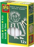 SES CREATIVE Křídy bílé kulaté set 12ks v krabici