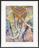 Diamond mozaika slon 40x50cm malování s kamínky kreativní set v krabici