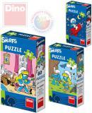 DINO Puzzle Šmoulové 23,5x21,5cm 60 dílků 6 druhů v krabičce