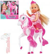 SIMBA Evi Love Panenka Evička princezna 12cm set s koněm a doplňky v krabičce