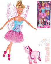 SIMBA Steffi Love víla 29cm panenka s křídly set s jednorožcem v krabici