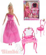 SIMBA Steffi Love panenka 29cm set princezna s toaletním stolkem a židličkou
