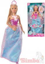 SIMBA Panenka Steffi 29cm magická princezna svítící na baterie Světlo