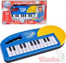 SIMBA Klávesy dětské elektronické 25cm modré na baterie *HUDEBNÍ NÁSTROJE*