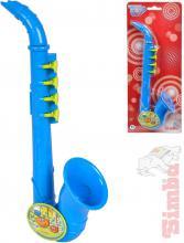 SIMBA Saxofon dětský 26cm modrý na kartě *HUDEBNÍ NÁSTROJE*