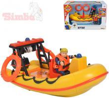 SIMBA Člun záchranářský Neptun + figurka Penny s doplňky Požárník Sam