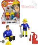SIMBA Figurka Požárník Sam 7,5cm a jeho kamarádi set 2 figurky 4 druhy plast