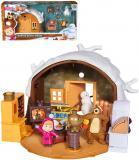 SIMBA Zimní dům medvěda Máša a Medvěd herní set s figurkami a doplňky