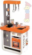 SMOBY Kuchyňka dětská Bon Appetit oranžová set s nádobím a potravinami Zvuk