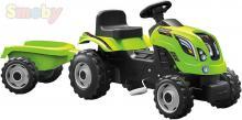SMOBY Traktor dětský šlapací Farmer XL zelený set s vozíkem s klaksonem
