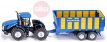 SIKU Traktor modrý New Holland set s přívěsem Joskin 1:50 model kov 1947