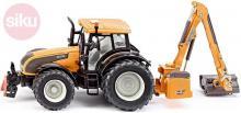SIKU Traktor oranžový Valtra se zadní sekačkou Kuhn 1:32 model kov 3659