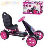 HAUCK Auto sportovní šlapací závodnička Sirocco růžovo-černé šlapadlo