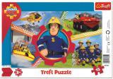 TREFL PUZZLE Deskové Požárník Sam skládačka 26x16cm 15 dílků
