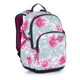 Studentský batoh s květinami Topgal YOKO 21030 G