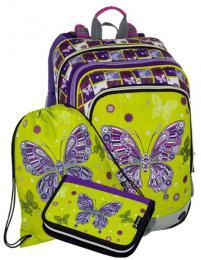 Dívčí batoh v setu BAGMASTER Malý SET ALFA 8 A - zvětšit obrázek