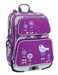 Holčičí školní batoh do první třídy Bagmaster GALAXY 6 A VIOLET/BLUE - Výprodej - zvětšit obrázek