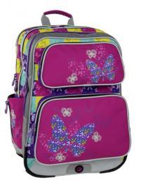 Dívčí školní batoh pro prvňáčky Bagmaster GALAXY 6 B PINK/BLUE/YELLOW - Doprava zdarma, Výprodej - zvětšit obrázek