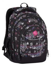 Dívčí studentský batoh Bagmaster ENERGY 7 E BLACK/PINK - zvětšit obrázek