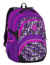 Dívčí školní batoh pro třeťáky Bagmaster THEORY 7 C VIOLET/PINK - zvětšit obrázek