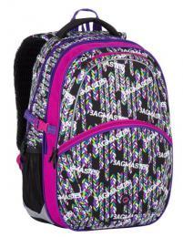 Dívčí školní batoh Bagmaster MADISON 7 B BLACK/PINK/VIOLET - zvětšit obrázek
