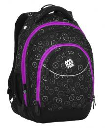 Dívčí studentský batoh BAGMASTER ENERGY 8 C BLACK/GRAY/PINK - zvětšit obrázek