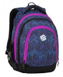 Dívčí studentský batoh BAGMASTER SUPERNOVA 8 A BLACK/BLUE/PINK - zvětšit obrázek