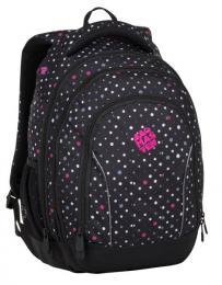 Dívčí studentský batoh BAGMASTER SUPERNOVA 8 C BLACK/GRAY/PINK - zvětšit obrázek