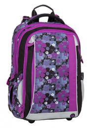 Dívčí školní batoh pro prvňáčka BAGMASTER MERCURY 8 A BLACK/PINK/VIOLET - zvětšit obrázek