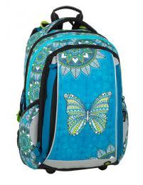 Dívčí školní batoh pro prvňáčka BAGMASTER MERCURY 9 B TURQUOISE/WHIT - zvětšit obrázek