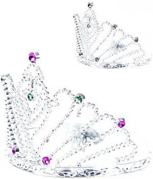 KARNEVAL Korunka stříbrná princezna 2 druhy *KARNEVALOVÝ DOPLNĚK* - zvětšit obrázek
