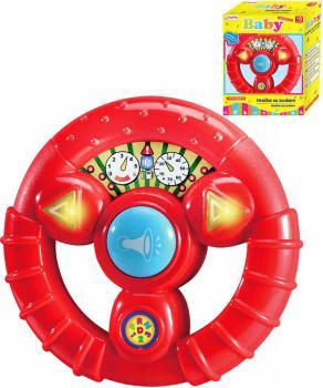 Baby volant zábavný dětský na baterie Světlo Zvuk červený pro miminko - zvětšit obrázek