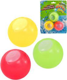 Vodní bomby barevné znovu použitelné set 3ks na kartě - zvětšit obrázek